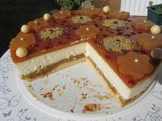 Tarta mousse de queso, membrillo y caramelo cocina tradicional