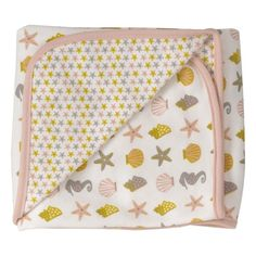 Organic Cotton Pink Starfish Pattern Baby Towel Made in England - From Babies with Love from UK - Baby Gift Sets Baby Gift Sets, Baby Gifts, Pigeon, Baby Towel, Organic Baby Clothes, Pretty Pastel, Baby Patterns, Starfish, Bag Making