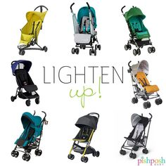 It's time to lighten up! Warm weather means you'll be spending much more time outside, and we have the lightweight stroller that's right for you! Check out our entire line of lightweight strollers, and get your summer going! http://www.pishposhbaby.com/umbrella-strollers.html