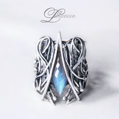 handmade ring technique: wire-wrapping materials: silver, labradorite My facebook page and more pictires : Online shop :