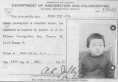 Source: artifact, primary July Canada passes the Chinese Exclusion Act and it Bans all Chinese accept students, merchants, and diplomats from entering Canada. The Chinese race was the only race to be outcasted to this extent. Family Separation, Labor Union, Immigration Policy, Canadian History, O Canada, Primary Sources, New Law, Forced Labor
