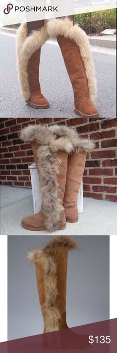 Koolaburra Sasha Knee-High Fur Trim Boot Size 7 Like New - If you have any questions or concerns please let me know. Thank you for looking at my listing. Have a great day! Koolaburra Shoes Winter & Rain Boots