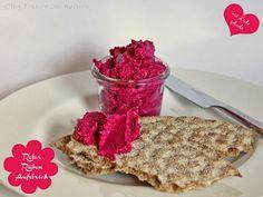 Rezept vegan: Roter Rüben Kren Aufstrich - Roter Beete Meerrettich Brotaufstrich