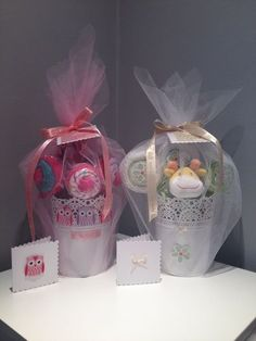 Baby Gift Basket, baby Gift Set, New Baby Gift, baby Shower Gift, Unisex Baby Uses ikea plant pots!!