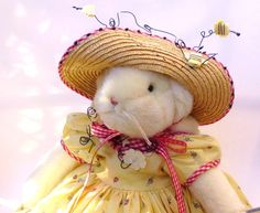 Adorable Merry Mary Bunnies by the Bay Plush Rabbit by auntlettuce, $52.00