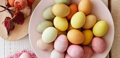 dye eggs | 9 All-Natural Easter Egg Dyes That Come Straight from Your Kitchen