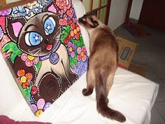 A Artista Joana Diggle e seus gatinhos