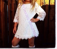 SALE Girls dress Lace 3/4 Sleeve for any occasion