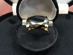 8CTW LCS BLACK  DIAMOND ENGAGEMENT COCKTAIL RING SZ 5 SZ 6 + gift #SolitairewithAccents