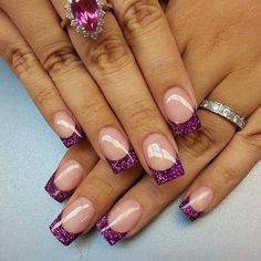 classic french nails polish - How to Acheive French Nail Tips at Home - Nail Tip Designs, Purple Nail Designs, Colorful Nail Designs, French Nails, French Nail Polish, Fabulous Nails, Gorgeous Nails, Cute Nails, Pretty Nails