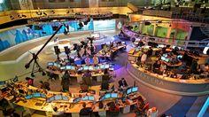 The Al Jazeera English studio in Doha, Qatar. Photo credit: James Duncan Davidson.