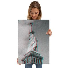 """La Liberté éclairant le monde"" Gallery quality giclée print on thick 67.5 cm / 48 cm metal plate. Each Displate print verified by the Production Master. Signature and hologram added to the back of each print for added authenticity & collectors value. Magnetic mounting system included. #art #photography #newyork #city  #street #streetphotography  #design #designideas #decoration #decor #print #metalwallart #wallart #walldecor #displate #shopping #sale #iritxu #surreal #surrealism #liberty"