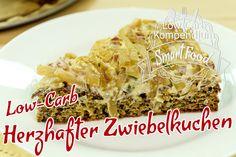 Low-Carb Zwiebelkuchen Rezept - Wer sagt, dass Kuchen immer süß sein muss - wie wäre es denn mit einem herrlich saftigen & herzhaften Zwiebelkuchen