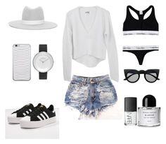 Summer in the City by fashionlandscape on Polyvore featuring Mode, Calvin Klein, adidas Originals, Skagen, Janessa Leone, Byredo and NARS Cosmetics