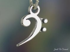 Bass Clef Sterling Silver Charm jewel be charmed on Etsy I would want a larger version Bassoon, Music Jewelry, Music Stuff, Music Things, Small Rings, Split Ring, Fashion Bracelets, Bling, Charmed