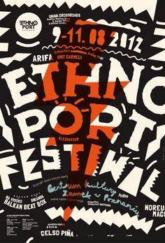 Ethno Port Festival, poster submitted by Marcin Markowskiand designed by…