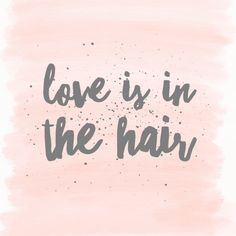 Love is in the air or is it in your hair? Reflexion hair