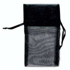 "1.75"" x 2"" black organza pouch Case of 12"