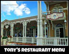 Tony's Town Square Restaurant Main Street - Magic Kingdom Casual Dining