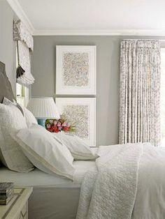 Bedroom decor ideas - gray + white bedroom: #laylagrayce