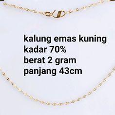 Beli kalung emas kuning mata ikan kadar 70 persen dari toko emas jfaf tokoemasjfaf - Jakarta Utara hanya di Bukalapak Mata, Jakarta