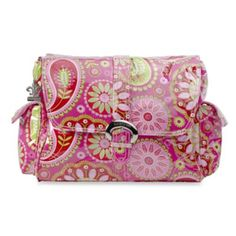 Kalencom Single Buckle Laminated Diaper Bag in Gypsy Paisley Cotton Candy - BedBathandBeyond.com