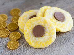 Hanukkah Gelt Cookies  Better yet, how about pumpkin cookies with the gelt on the top?