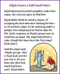 Elijah Hears a Still Small Voice (Story) - Kids Korner - BibleWise