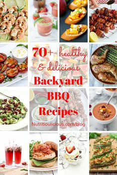 A delicious roundup of healthy backyard barbecue recipes to keep you fit and happy all summer long! @jlevinsonrd