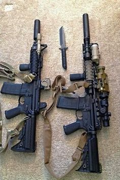 "AR-15 / M4 Rifles with 10"" barrel's, Suppressors, MagPull Accessories, Surefire Lights, and possibly Aimpoint Optics?"