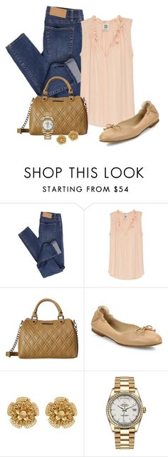 """""""Untitled #595"""" by cynive ❤ liked on Polyvore featuring Cheap Monday, Bobeau, Steve Madden, L.K.Bennett, Miriam Haskell and Rolex"""