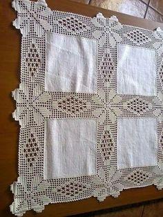 Summer Lace Patterns, Summer Tops For Bl Lace - Diy Crafts - Hadido Crochet Bedspread Pattern, Crochet Fabric, Crochet Motifs, Crochet Borders, Crochet Tablecloth, Filet Crochet, Crochet Doilies, Diy Crafts Crochet, Crochet Home