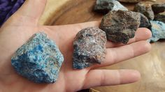 Blue Apatite ~ 1 large Reiki infused rough stone approx 1.7-1.8 inches