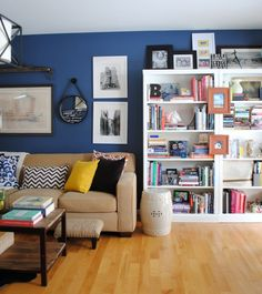 Home Office Living Room - Eclectic - Home office - Photos by SAS Interiors | Wayfair  I love that wall color with the white and other neutrals.