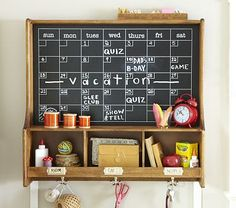 Being a very busy working mother of 2-- soon to be three. this organizational system is a must for Girl Scouts, t-ball, softball, karate, doctor and dentist appointments, and much-much more......I am busy working mom looking for all the help I can ge. This chalk board, calendar and storage system would work great for my 3 kids.