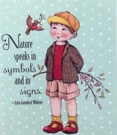 Handmade Fridge Magnet-Mary Engelbreit Artwork-Nature Speaks #MaryEngelbreit