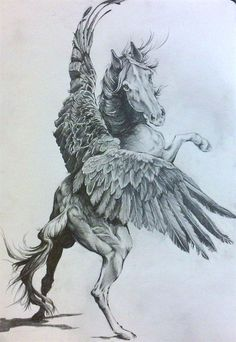 Fly and be Free, My Sweet Horse- Pegasus by Karina Griffiths