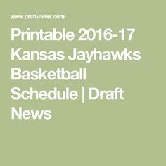 photo relating to Ku Basketball Schedule Printable identified as 31 Least complicated Jayhawks Basketball visuals inside 2017 School of