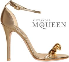 Gold Skull Alexander McQueen Spring 2013 Sandal