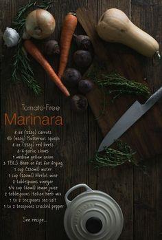 "Tomato-Less ""Marinara"" Sauce: A Nightshade-Free, Tomato Style Sauce by @theurbanposer theurbanposer.com #paleo #aipaleo #aip"