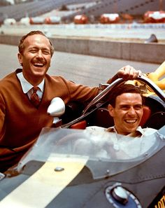 Colin Chapman and Jim Clark