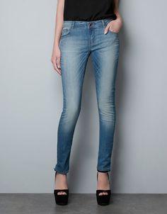 DENIM PITILLO LIGHT BLUE SATEN - Jeans - Mujer - ZARA España