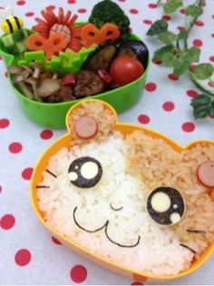 Hamutaro bento..  had to repinned this, this is so cute