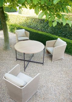 Garden Furniture On Gravel brick patio, separate seating area, lounge patio, outdoor