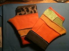 FRANKENgloves....cuff up...cuff down...you decide...no two are alike!  love these fleece fingerless gloves...just toss them right in the washing machine!  perfect, affordable holiday gift!  $25