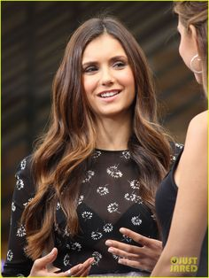 """Nina Dobrev, she's my favorite, mainly because she on """"The Vampire Diaries""""."""