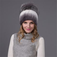 Новый высококачественный Русский шляпа кролик меховая шапка женские зимние натуральный мех шаль лисий мех вязаная шапка