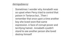 I haven't read the series in years and this post really just had to give me the… #PJO