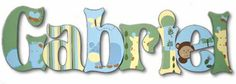 Gabriel Jungle Fun Hand Painted Wall Letters