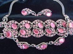 Vintage Rhinestone Parure 1950s Necklace set